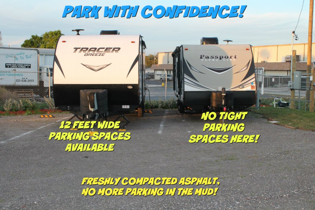 RV parking lot space
